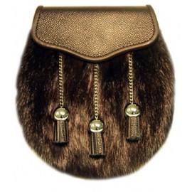 Black Muskrat with Chain Tassels