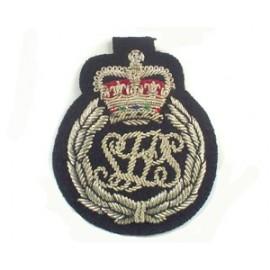 SOLOMON ISLAND POLICE CAP BADGE ON BLACK