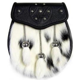 Calf Front Sporran with Fur Tassels