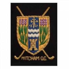 MITCHAM GOLF CLUB BLAZER BADGE
