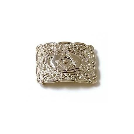 Masonic Belt Buckle with Engraved Surround