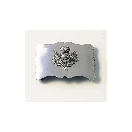 Plain Antique Thistle Belt Buckle