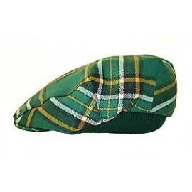 Irish Tartan Wool Flat Cap by Balmoral