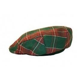 Gents' Welsh Tartan Wool Flat Cap by Balmoral