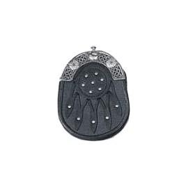 Black leather Sporran