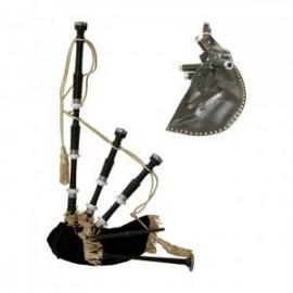 GHW-01 Bagpipe, Black Rosewood Blk Cvr, Syn Bag