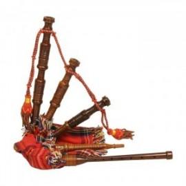 GHW-28 Wee Tot's Bagpipe, Rosewood, Red Tartan