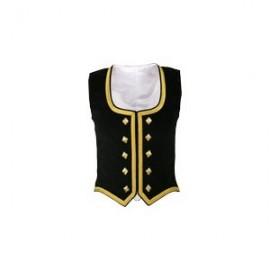 GHW-01 Black Velvet Highland Dance Vest sleeveless