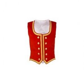 GHW-03 Red Velvet Highland Dance Vest sleeveless