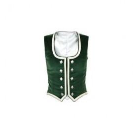 GHW-05 Green Velvet Highland Dance Vest sleeveless