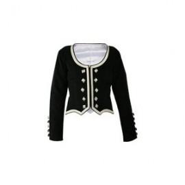 GHW-02 Black Velvet Highland Dance Jacket full sleeve