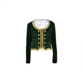 GHW-06 Green Velvet Highland Dance Jacket full sleeve