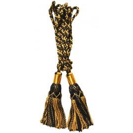Gold / Black Silk Bagpipe Cords