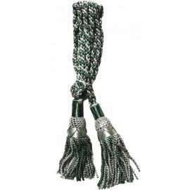 Silver / Green Silk Bagpipe Cords