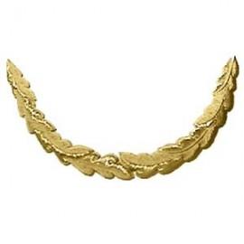 1 ROW GOLD OAK-LEAF PEAK EMB LONG